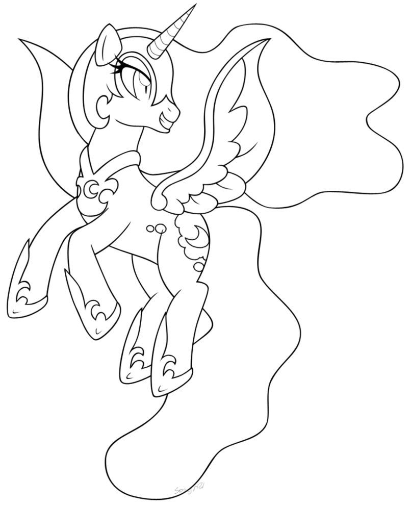 Mlp Coloring Pages Nightmare Moon photo 15