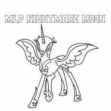Mlp Coloring Pages Nightmare Moon photo 3